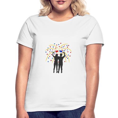 FEUERWERK ROT BLAU - Frauen T-Shirt