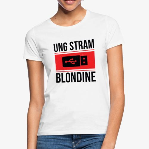 Ung Stram Blondine - Sort - Dame-T-shirt
