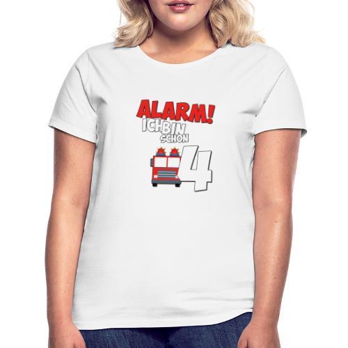 Feuerwehrauto 4. Geburtstag Jungen 4 Jahre - Frauen T-Shirt