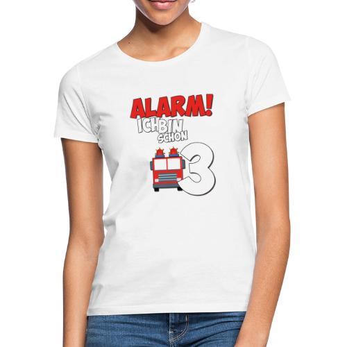 Feuerwehrauto 3. Geburtstag Jungen 3 Jahre - Frauen T-Shirt