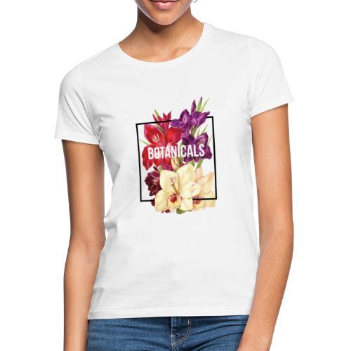 Composizione collage floreale - Maglietta da donna