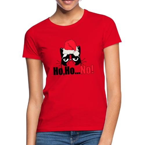 Ho,Ho,... NO   Grumpy Cat Merry Christmas - Frauen T-Shirt