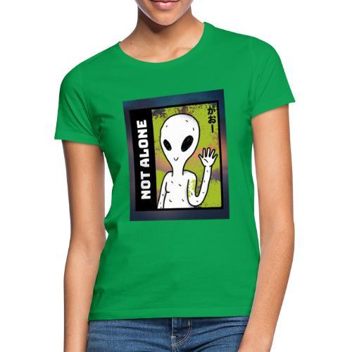 alien t shirt design maker featuring a smiling ali - Dame-T-shirt