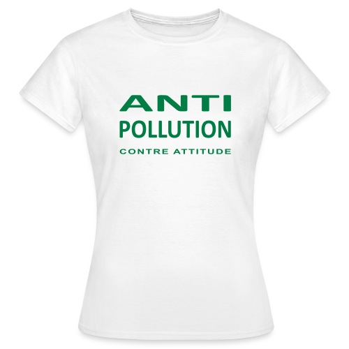 LOGO ANTI-POLLUTION - T-shirt Femme
