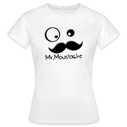 Logo Moustache png - T-shirt Femme