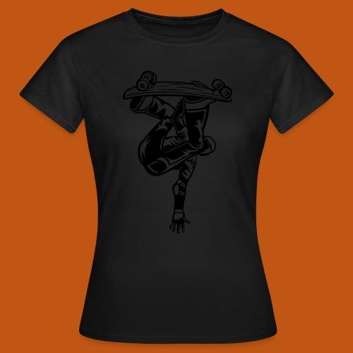 Skater / Skateboarder 03_schwarz - Frauen T-Shirt