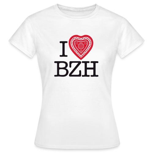 I love BZH red black - T-shirt Femme
