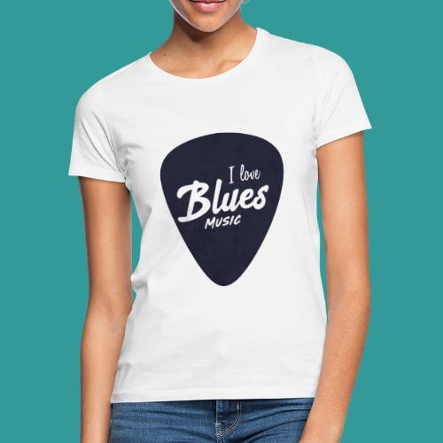 I Love Blues Music Guitar Pick - Women's T-Shirt
