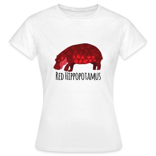 Red Hippopotamus - T-shirt Femme