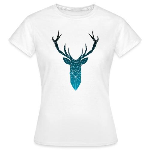 Hirsch blau im Triangel-Design - Frauen T-Shirt