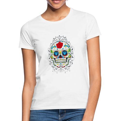 Rose und Diamantschädel - Frauen T-Shirt