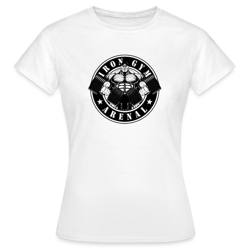 logo black 'the full-cutted stencil version' - Camiseta mujer