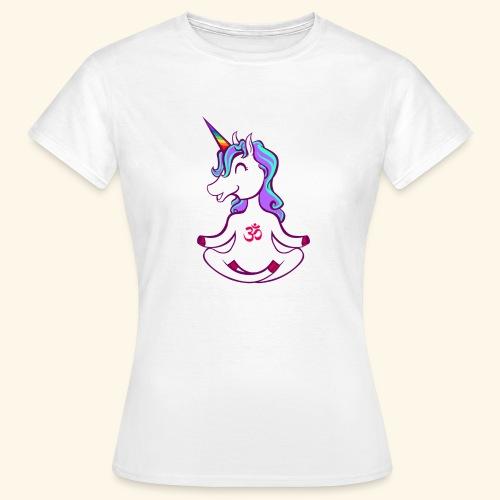 buddhistisches Meditation Einhorn T-Shirt - Frauen T-Shirt