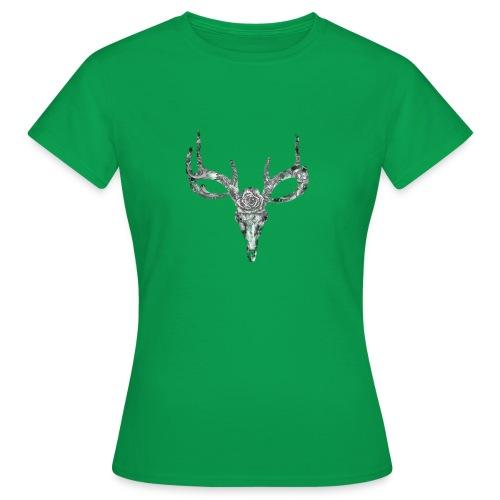 Deer skull with rose - Naisten t-paita