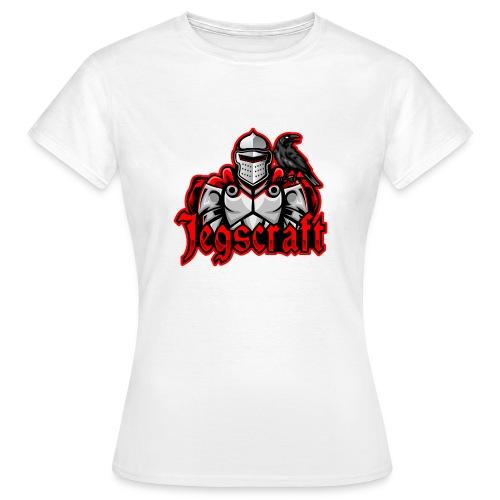Jegscraft logo - T-skjorte for kvinner