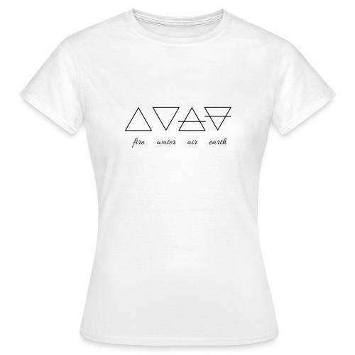 Vier Elemente. - Frauen T-Shirt