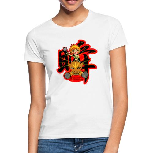 Wild girl and pig - Women's T-Shirt