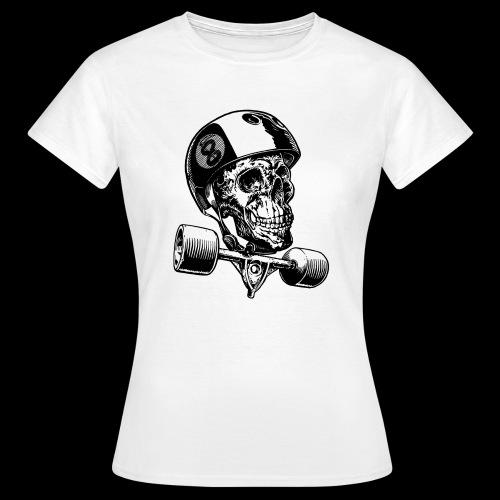 Skull Longboard Rider - positive print - T-shirt Femme