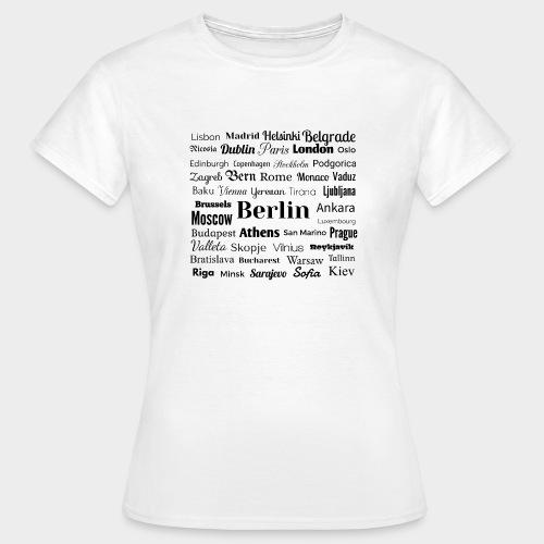 European capitals - Women's T-Shirt