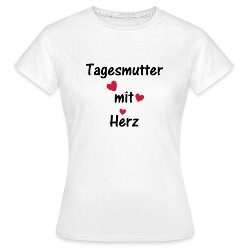 Tagesmutter mit Herz - Frauen T-Shirt
