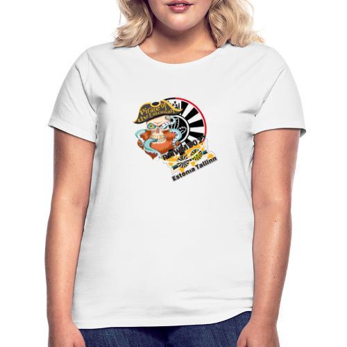 pirate of the estonian back - Frauen T-Shirt