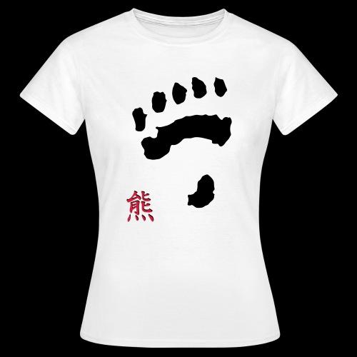 tatze_kuma + Kanji - Frauen T-Shirt