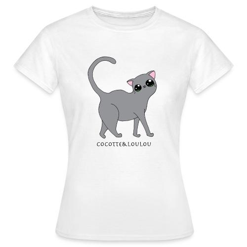 Bibi chat gris - T-shirt Femme