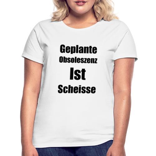 Obsoleszenz Schwarz Weiss - Frauen T-Shirt