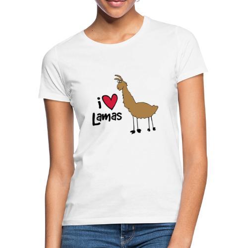 I love Lamas - Frauen T-Shirt