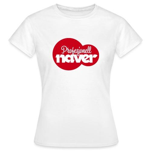 Provesjonell naver (fra Det norske plagg) - T-skjorte for kvinner