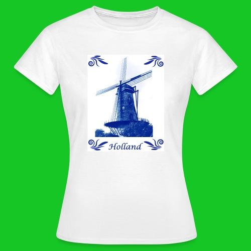 Delfts Blauw Molen - Vrouwen T-shirt