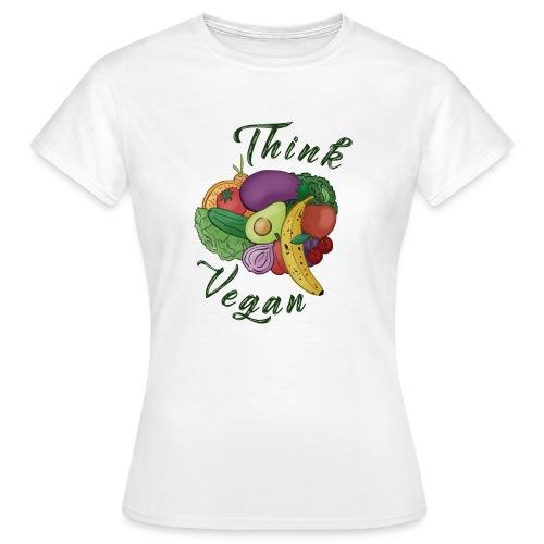 Think Vegan dunkel - Women's T-Shirt