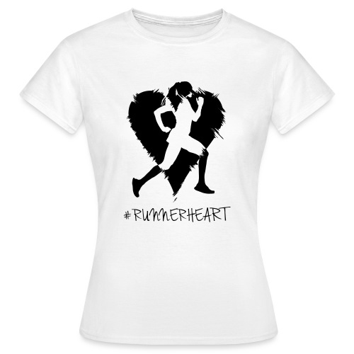 #Runnerheart girl - Frauen T-Shirt