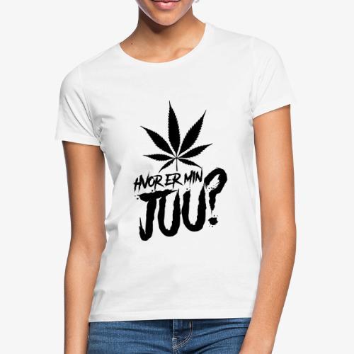 Hvor Er Min Juu - SORT - Dame-T-shirt