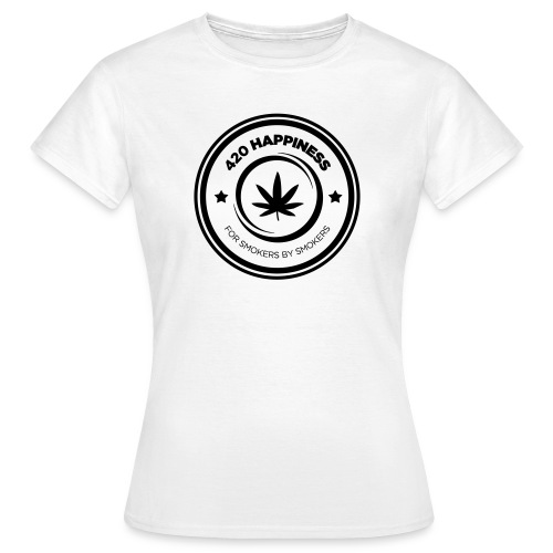 420_Happiness_logo - Dame-T-shirt
