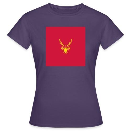 scimmiacervo sfondo rosso - Maglietta da donna