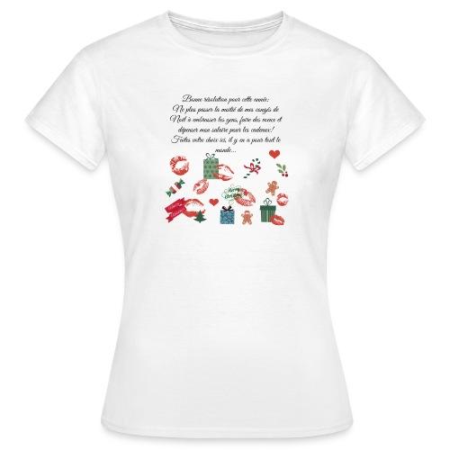 Bonne resolution Noël Nouvel An - T-shirt Femme
