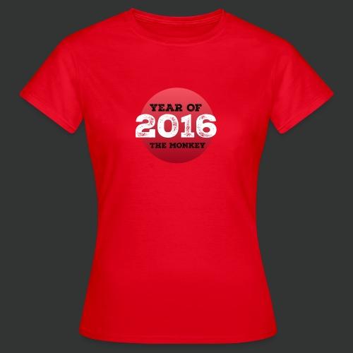 2016 year of the monkey - Women's T-Shirt