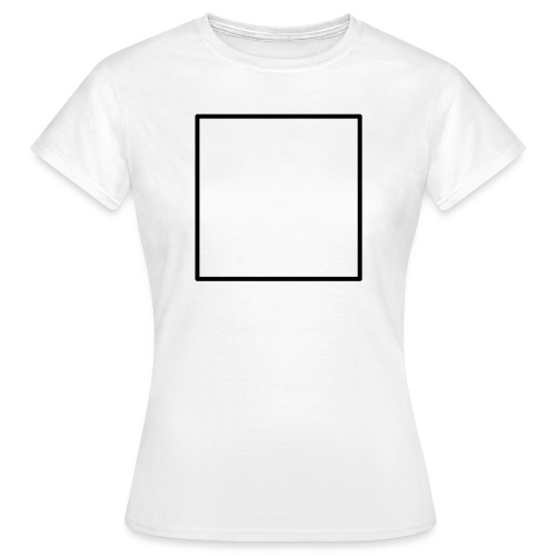 Square t shirt black - Vrouwen T-shirt