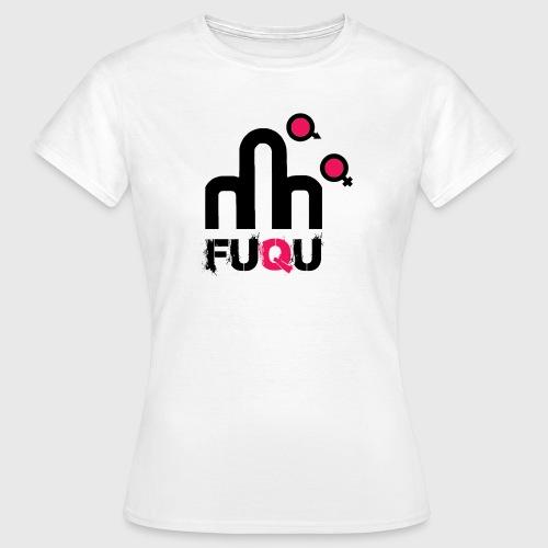 T-shirt FUQU logo colore nero - Maglietta da donna