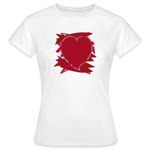 corazón enamorado, corazón roto - Camiseta mujer