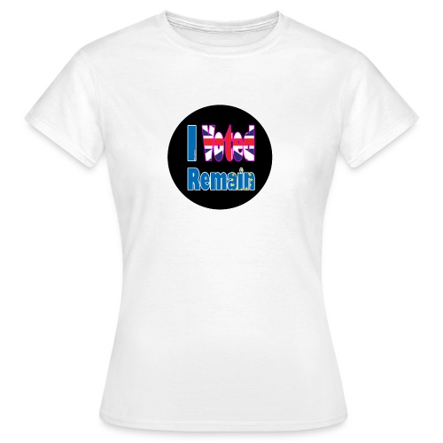 I Voted Remain badge EU Brexit referendum - Women's T-Shirt