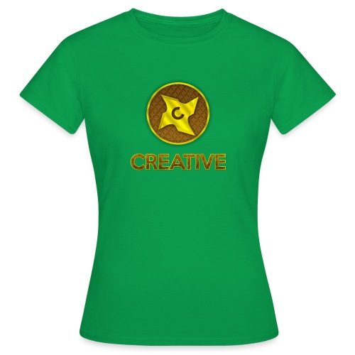 Creative logo shirt - Dame-T-shirt