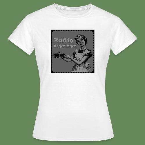 Radio Regeringen Grå Logga - T-shirt dam