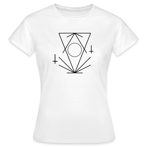 Geo-oddity_line_whiteout - Women's T-Shirt