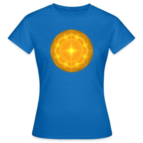 Golden Radiance Mandala Heart - Vrouwen T-shirt