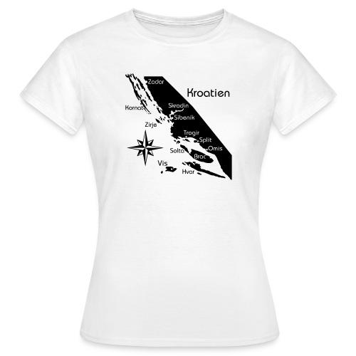 Kroatien Zadar bis Hvar - Frauen T-Shirt
