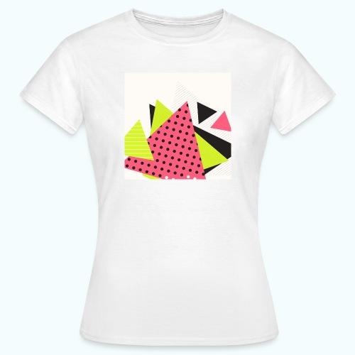 Neon geometry shapes - Women's T-Shirt