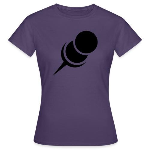 Pin Nadel rechts Zwecke > hier < - Frauen T-Shirt