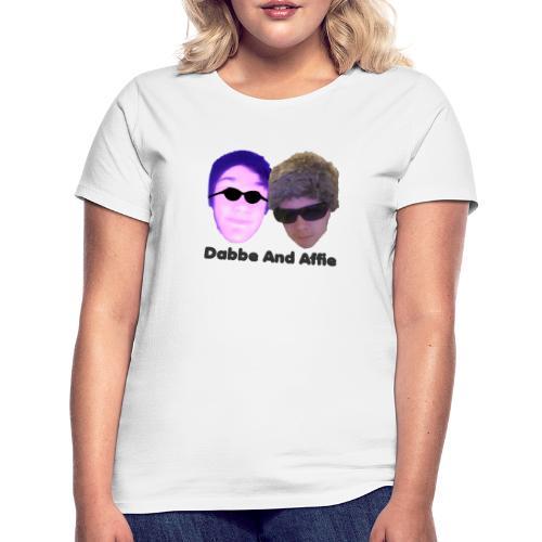 Dabbe And Affie Svart Text - T-shirt dam